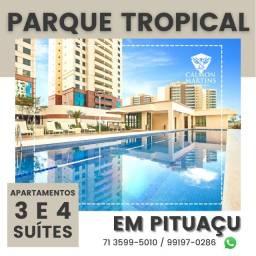 Título do anúncio: Apartamentos em Patamares 115m² com 3 suítes, 2 vagas, vista mar