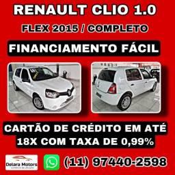 Título do anúncio: Clio 2015 - Completo - Financiamos