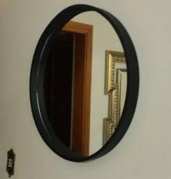 Título do anúncio: espelho de 60 cm preto fosco