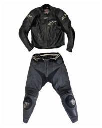 Macacão couro moto alpinestars 54