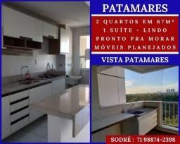Título do anúncio: Vista Patamares, 2 quartos, suíte em 67m² varanda gourmet e 1V- Deslumbrante