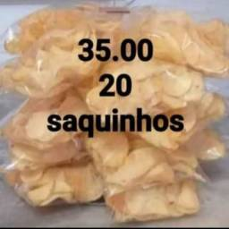 Batata chips crocante
