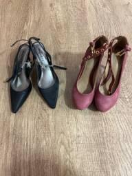 Sapatos scarpin e meia pata 35