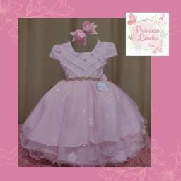 Título do anúncio: Vestido de menina princesa