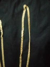 Corrente grumet banhada ouro