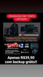 Título do anúncio: Formatação Manutenção Notebook Desktop PC Computador