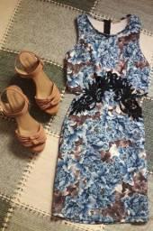 Vestido azul midi Tam P