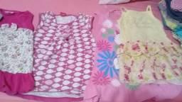 Vendo lotinho de roupas de menina número 3 e 4