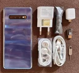 Galaxy S10 Azul Pérola 128GB e 8GB Ram câmera Tripla