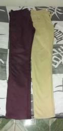 2 calça de sarja