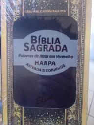 Biblia sagrada com harpa e corinhos. modelo slim