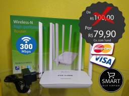 Roteador wireless 4 antenas dual 300Mbps pix link (super potente)