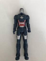 Boneco homem de ferro azul - patriota