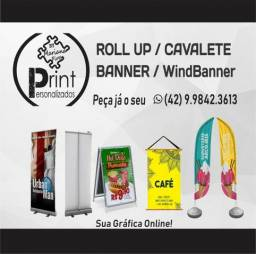 Material Gráfico lona banner cavalete
