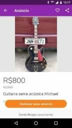 Guitarra Michael modelo seme acústica