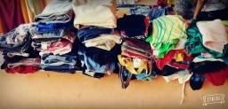 100 peças de roupas por apenas 50,00 Reais