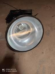 Luminária Pendente Sanfona Preta E27 Com Chapéu E Canola
