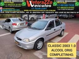 Chevrolet classic 2003 1.0 mpfi 8v Álcool 4p manual