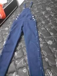 Macacão feminino jeans longo