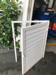 portinha completa de aluminio branco