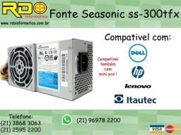 Fonte Slim Seasonic 300w Dell Lenovo Itautec Hp - Selo 80 Plus Bronze