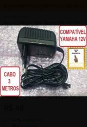 Fonte para Teclados e Pianos Yamaha 12V cabo 3Mts