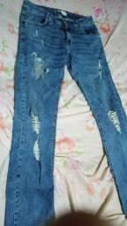 Jeans com lycra número 36