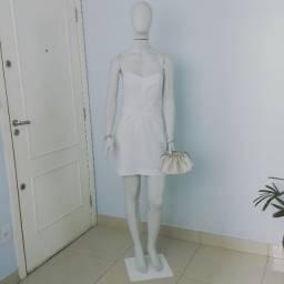 Título do anúncio: vestido festa branco curto 38