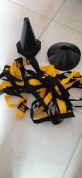 Kit Escada + 10 Pratos + 10 Cones Agilidade<br><br>