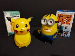 Título do anúncio: Caixa de Som Minions e Pikachu