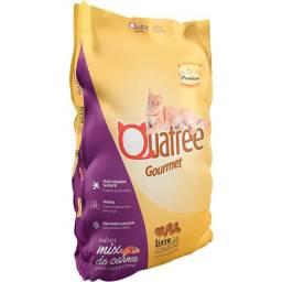Ração Quatree Gourmet Mix de Carnes Gatos Adultos - 10Kg