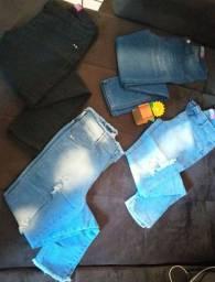 Calça Jeans Feminina Cintura Alta kit com 4 calças