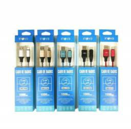 Título do anúncio: Cabo Inova Tipo C Type C V8 Micro USB Iphone 2.4A Carga Rápida 1 Metro