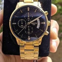 Título do anúncio: Relógio Nibose aço inoxidável lik