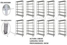 Promoção 10 Estantes de aço p-30 c/ 06 bandejas c / reforço ( nova )