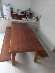 Título do anúncio: VDO Mesa madeira e Balcão Cômoda
