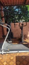 Aparelho de musculação esteira e bicicleta tudo por 1500R$
