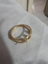 Anel banhado  ouro