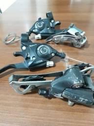 Título do anúncio: Kit Cambio Shimano com Passador 3x8 24V Usado