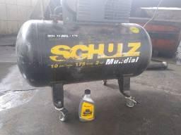 Título do anúncio: Compressor de ar Schulz mundial trifásico 120 libras 2 hp 10 pés³ - 175 litros 220 / 380 v