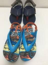 Sandalia cartago azul e chinela ipanema(pouquissimo usado)