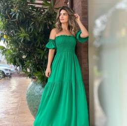 Título do anúncio: Vestido Longo na cor verde