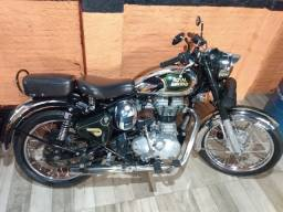 royal enfield classic 500 modelo chrome - impecável