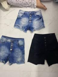 3 shorts usados apenas 1 vez
