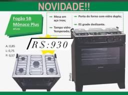 Título do anúncio: Fogão 5 bocas Mônaco Preto
