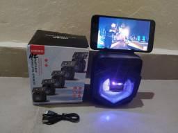 Caixa De Som Bluetooth Amplificada Portátil.
