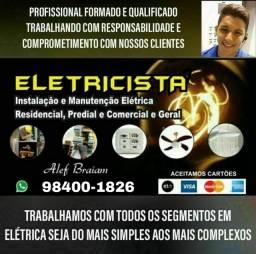 Título do anúncio: Eletricista profissional e qualificado