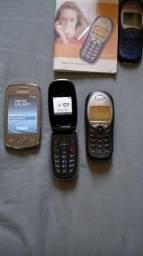 Lote com 3 celulares antigos Samsung, LG e Siemens !!