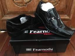 Sapato social couro de patente