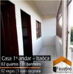 Casa de 02 quartos, independente, a aproximadamente 5 Ruas da Praia de Itaóca